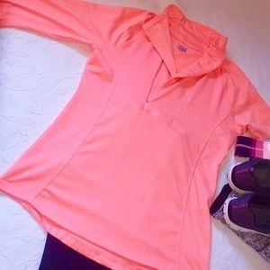 Hind salmon quarter zip athletic shirt